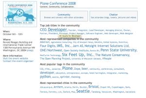 Plone 2008 EventVue page