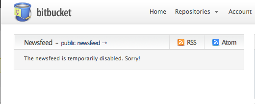 Bitbucket newsfeed problem