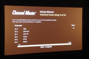 DVR+ channel scan results